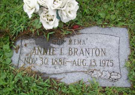 BRANTON, ANNIE LOUISE - Galveston County, Texas | ANNIE LOUISE BRANTON - Texas Gravestone Photos