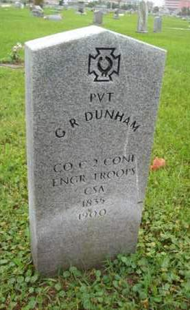 DUNHAM {VETERAN CSA}, GEORGE R - Galveston County, Texas | GEORGE R DUNHAM {VETERAN CSA} - Texas Gravestone Photos
