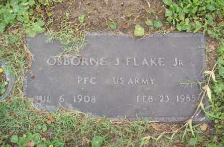 FLAKE, JR {VETERAN WWII}, OSBORNE J. - Galveston County, Texas | OSBORNE J. FLAKE, JR {VETERAN WWII} - Texas Gravestone Photos