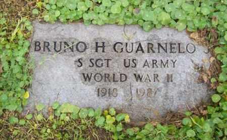 GUARNELO, JR {VETERAN WWII}, BRUNO H - Galveston County, Texas | BRUNO H GUARNELO, JR {VETERAN WWII} - Texas Gravestone Photos