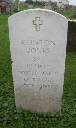JONES {VETERAN  WWII}, CLINTON - Galveston County, Texas | CLINTON JONES {VETERAN  WWII} - Texas Gravestone Photos