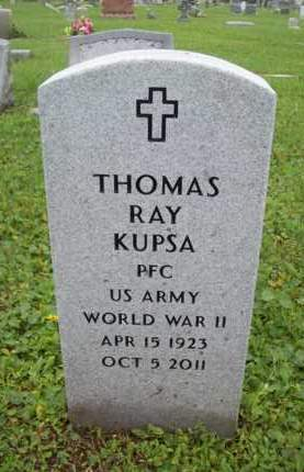 KUPSA {VETERAN  WWII}, THOMAS RAY - Galveston County, Texas | THOMAS RAY KUPSA {VETERAN  WWII} - Texas Gravestone Photos