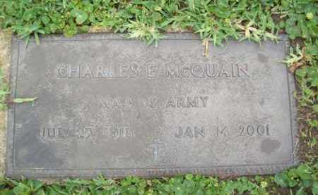 MCQUAIN {VETERAN WWII}, CHARLES E - Galveston County, Texas | CHARLES E MCQUAIN {VETERAN WWII} - Texas Gravestone Photos