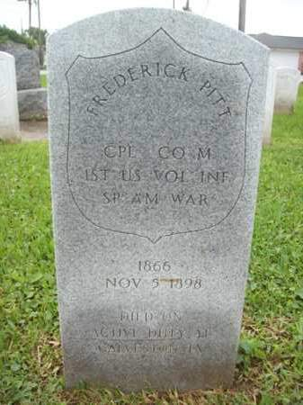 PITT {VETERAN SAW}, FREDERICK - Galveston County, Texas | FREDERICK PITT {VETERAN SAW} - Texas Gravestone Photos