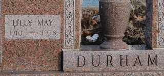 DURHAM, LILLY MAY - Grayson County, Texas | LILLY MAY DURHAM - Texas Gravestone Photos