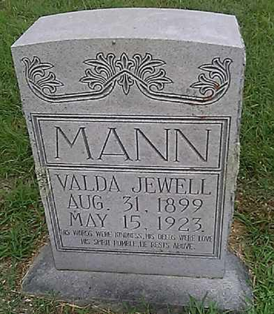 MANN, VALDA JEWELL - Grayson County, Texas | VALDA JEWELL MANN - Texas Gravestone Photos