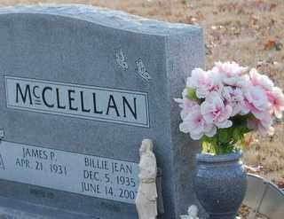 MCCLELLAN, BILLIE JEAN - Grayson County, Texas | BILLIE JEAN MCCLELLAN - Texas Gravestone Photos