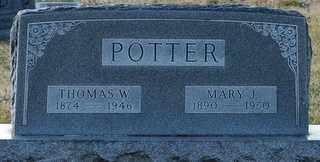 POTTER, MARY J - Grayson County, Texas   MARY J POTTER - Texas Gravestone Photos
