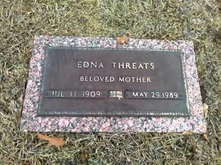 THREATS, EDNA - Grayson County, Texas | EDNA THREATS - Texas Gravestone Photos