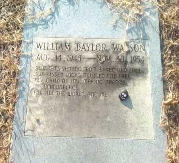 WATSON, WILLIAM BAYLOR - Grayson County, Texas   WILLIAM BAYLOR WATSON - Texas Gravestone Photos