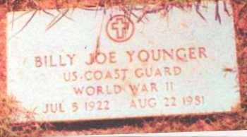 YOUNGER  (VETERAN WWII), BILLY JOE - Grayson County, Texas | BILLY JOE YOUNGER  (VETERAN WWII) - Texas Gravestone Photos