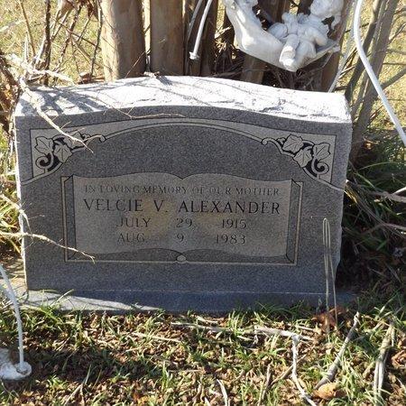 ALEXANDER, VELCIE V - Gregg County, Texas | VELCIE V ALEXANDER - Texas Gravestone Photos