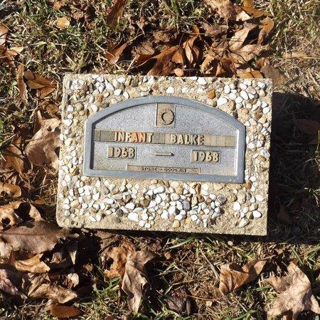 BALKE, INFANT - Gregg County, Texas   INFANT BALKE - Texas Gravestone Photos