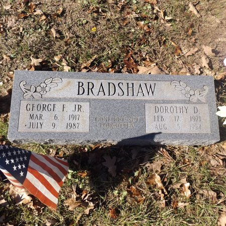 BRADSHAW JR, GEORGE F - Gregg County, Texas | GEORGE F BRADSHAW JR - Texas Gravestone Photos