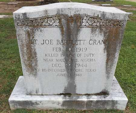 CRANE ( VETERAN WWII) (KIA), JOE BARTLETT - Gregg County, Texas   JOE BARTLETT CRANE ( VETERAN WWII) (KIA) - Texas Gravestone Photos