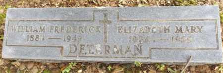 DETERMAN, WILLIAM FREDERICK - Gregg County, Texas | WILLIAM FREDERICK DETERMAN - Texas Gravestone Photos
