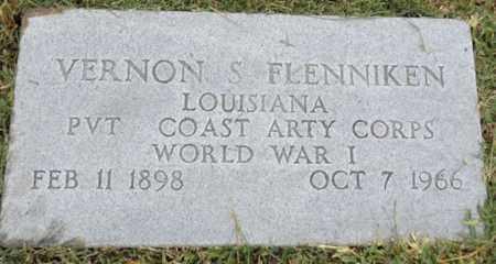 FLENNIKEN (VETERAN WWI), VERNON S - Gregg County, Texas | VERNON S FLENNIKEN (VETERAN WWI) - Texas Gravestone Photos