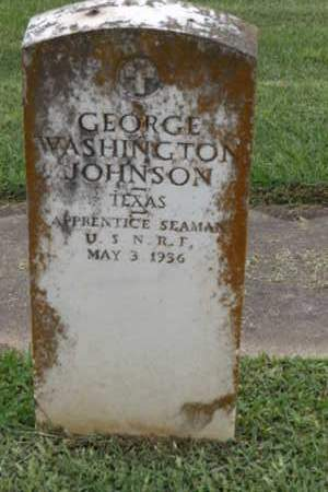 JOHNSON (VETERAN WWII), GEORGE WASHINGTON - Gregg County, Texas | GEORGE WASHINGTON JOHNSON (VETERAN WWII) - Texas Gravestone Photos