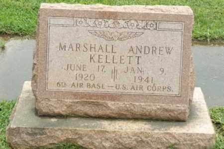 KELLETT (VETERAN WWII), MARSHALL ANDREW - Gregg County, Texas | MARSHALL ANDREW KELLETT (VETERAN WWII) - Texas Gravestone Photos
