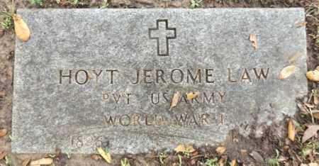 LAW VETERAN WWI), HOYT JEROME - Gregg County, Texas | HOYT JEROME LAW VETERAN WWI) - Texas Gravestone Photos