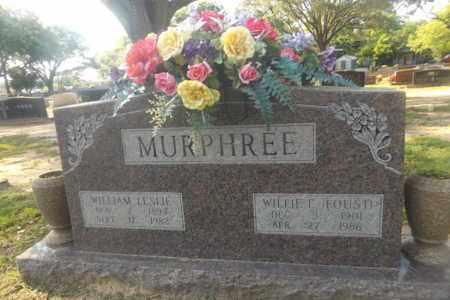 MURPHREE, WILLIAM LESLIE - Gregg County, Texas | WILLIAM LESLIE MURPHREE - Texas Gravestone Photos