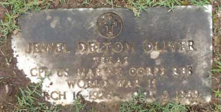 OLIVER (VETERAM WWII), JEWEL DELTON - Gregg County, Texas | JEWEL DELTON OLIVER (VETERAM WWII) - Texas Gravestone Photos