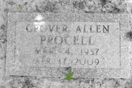 PROCELL, GROVER ALLEN - Gregg County, Texas | GROVER ALLEN PROCELL - Texas Gravestone Photos