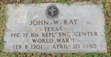 RAY (VETERAN WWI), JOHN W - Gregg County, Texas   JOHN W RAY (VETERAN WWI) - Texas Gravestone Photos