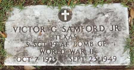 SAMFORD, JR (VETERAN WWII), VICTOR G - Gregg County, Texas   VICTOR G SAMFORD, JR (VETERAN WWII) - Texas Gravestone Photos