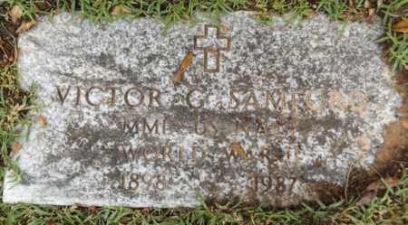 SAMFORD SR (VETERAN WWII), VICTOR G - Gregg County, Texas   VICTOR G SAMFORD SR (VETERAN WWII) - Texas Gravestone Photos