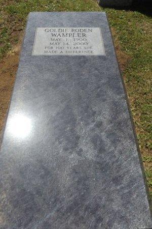 RODEN WAMPLER, GOLDIE - Gregg County, Texas | GOLDIE RODEN WAMPLER - Texas Gravestone Photos