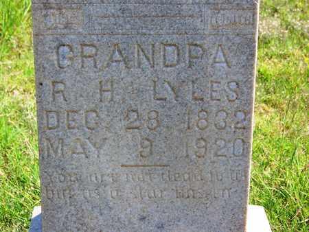 LYLES (VETERAN CSA), RICHARD H - Hall County, Texas | RICHARD H LYLES (VETERAN CSA) - Texas Gravestone Photos