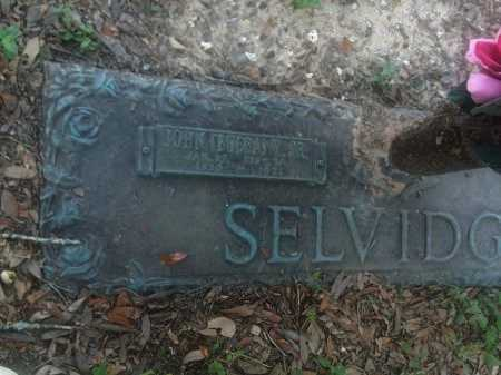SELVIDGE, JOHN VERNON  - Harris County, Texas | JOHN VERNON  SELVIDGE - Texas Gravestone Photos