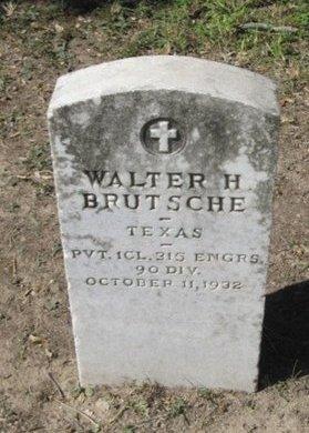 BRUTSCHE (VETERAN), WALTER H. - Hidalgo County, Texas | WALTER H. BRUTSCHE (VETERAN) - Texas Gravestone Photos