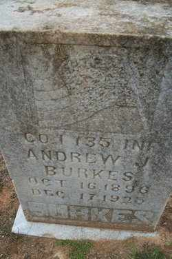 BURKES, SR (VETERAN WWI), ANDREW JACKSON - Houston County, Texas | ANDREW JACKSON BURKES, SR (VETERAN WWI) - Texas Gravestone Photos