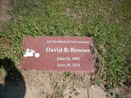 BOWSER, DAVID B - Hunt County, Texas | DAVID B BOWSER - Texas Gravestone Photos
