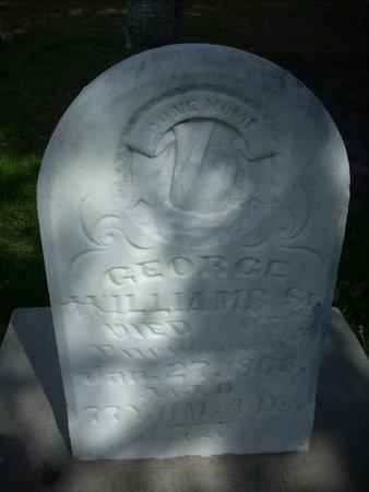 WILLIAMS, SR., GEORGE - Hunt County, Texas | GEORGE WILLIAMS, SR. - Texas Gravestone Photos