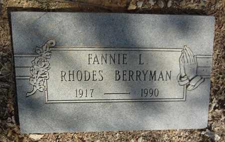 BERRYMAN, FANNY LEE - Jack County, Texas | FANNY LEE BERRYMAN - Texas Gravestone Photos