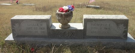 CLEVELAND COX, LUCILLE M - Jack County, Texas | LUCILLE M CLEVELAND COX - Texas Gravestone Photos