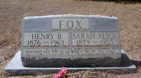 ERWIN FOX, SARAH ALICE - Jack County, Texas | SARAH ALICE ERWIN FOX - Texas Gravestone Photos