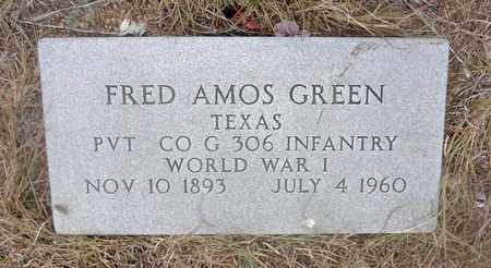 GREEN (VETERAN WWI), FRED AMOS - Jack County, Texas | FRED AMOS GREEN (VETERAN WWI) - Texas Gravestone Photos