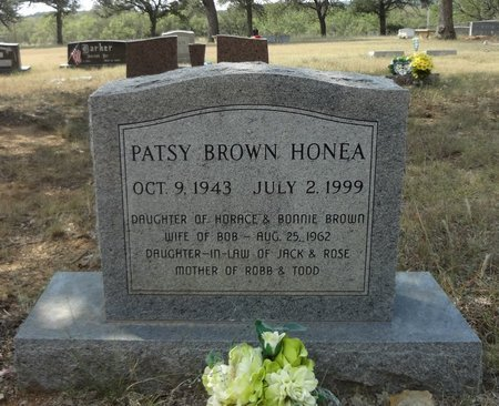 BROWN HONEA, PATSY - Jack County, Texas | PATSY BROWN HONEA - Texas Gravestone Photos