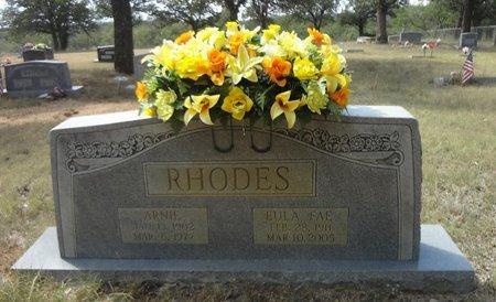 COLLIER RHODES, EULA FAE - Jack County, Texas | EULA FAE COLLIER RHODES - Texas Gravestone Photos