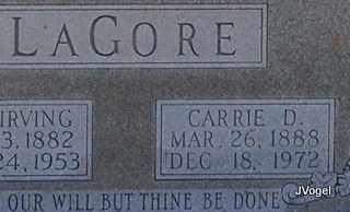 LAGORE, CARRIE D. - Kaufman County, Texas | CARRIE D. LAGORE - Texas Gravestone Photos