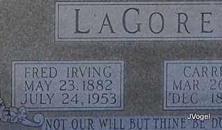 LAGORE, FRED IRVING - Kaufman County, Texas | FRED IRVING LAGORE - Texas Gravestone Photos