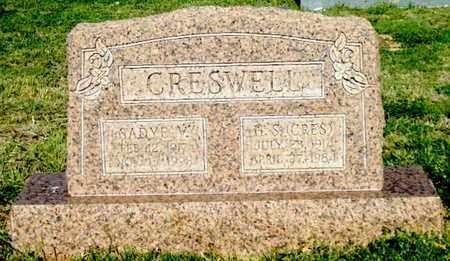 "CRESWELL, HUBERT SALATHIEL ""CRES"" - Lubbock County, Texas | HUBERT SALATHIEL ""CRES"" CRESWELL - Texas Gravestone Photos"