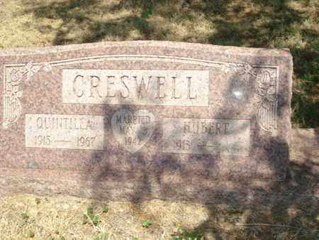 CRESWELL, LIVIE QUINTILLA - Lubbock County, Texas | LIVIE QUINTILLA CRESWELL - Texas Gravestone Photos