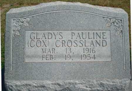 COX CROSSLAND, GLADYS PAULINE - Lubbock County, Texas | GLADYS PAULINE COX CROSSLAND - Texas Gravestone Photos