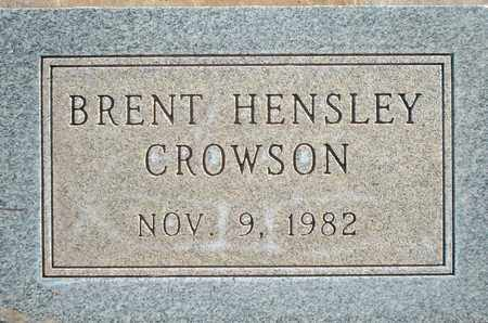CROWSON, BRENT HENSLEY - Lubbock County, Texas | BRENT HENSLEY CROWSON - Texas Gravestone Photos
