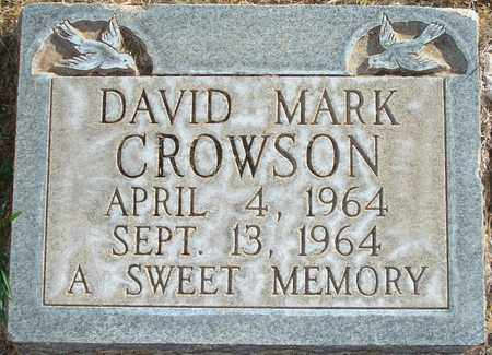 CROWSON, DAVID MARK - Lubbock County, Texas | DAVID MARK CROWSON - Texas Gravestone Photos
